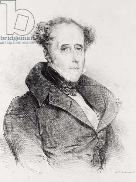 Francois-Rene, Vicomte de Chateaubriand, engraved by Lemercier (litho)