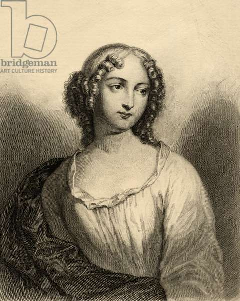 Louise Francoise de La Baume Le Blanc (1644-1710) Duchesse de La Valliere (engraving)