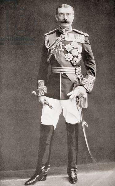 Horatio Herbert Kitchener, 1st Earl Kitchener, 1850 Ð 1916.   Irish-born British Field Marshal.  From The Year 1910 Illlustrated.