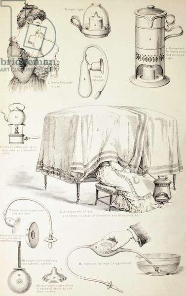 19th Century Nursery Appliances, c.1890 (engraving)