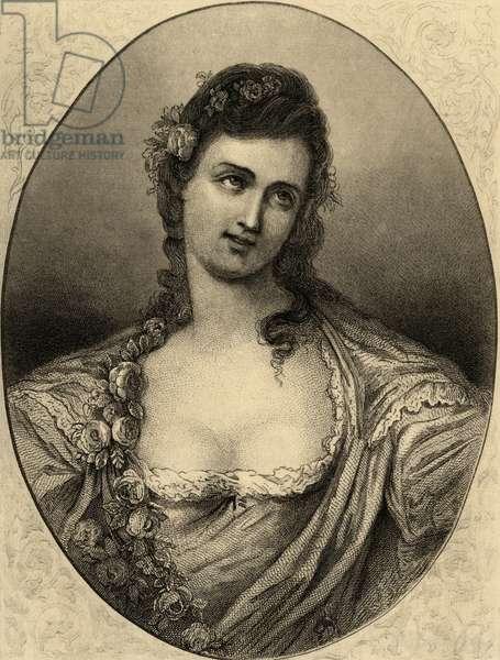 Mademoiselle Sophie Arnould (1740-1802) (litho)