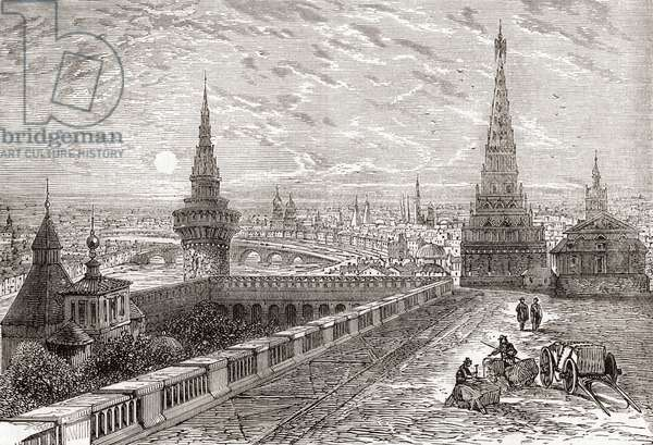 Moscow, Russia in the 19th century.  From The National Encyclopaedia, published c.1890.