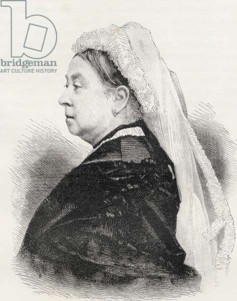 Queen Victoria, from 'London Pictures: Drawn with Pen and Pencil', by Rev. Richard Lovett, published 1890 (litho)