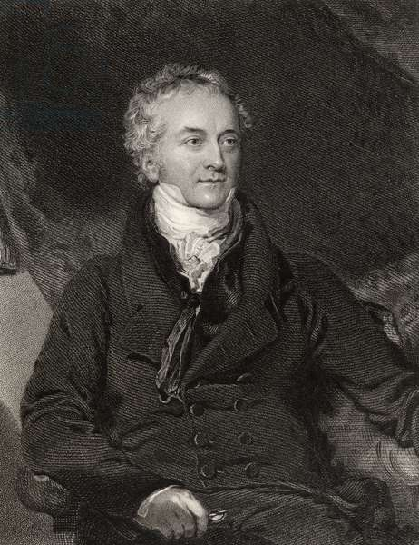 Thomas Young, engraved by G. Adcock, from 'National Portrait Gallery, volume II', published c.1835 (litho)