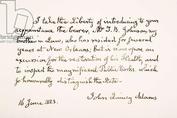 John Quincy Adams, 1767 - 1848.