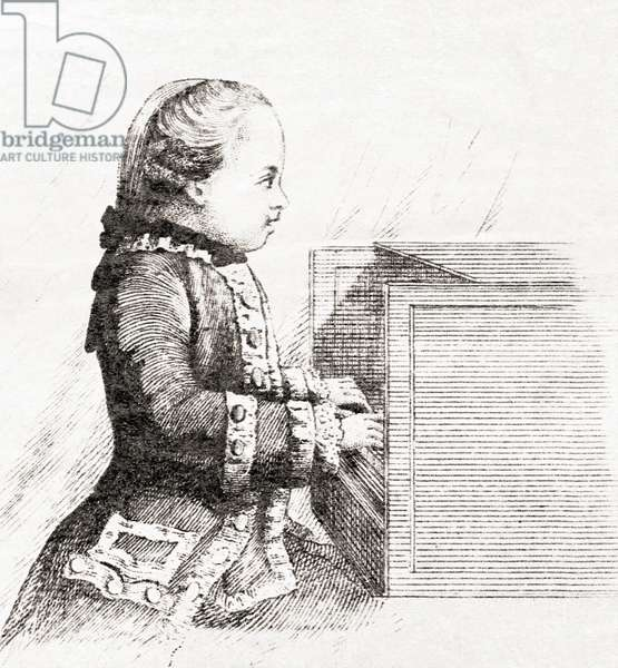 Wolfgang Amadeus Mozart, here aged 7