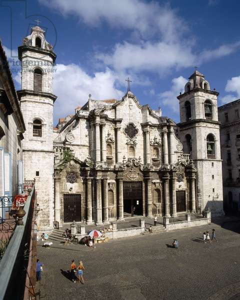 Facade of the Cathedral, built 1748-77 (photo)