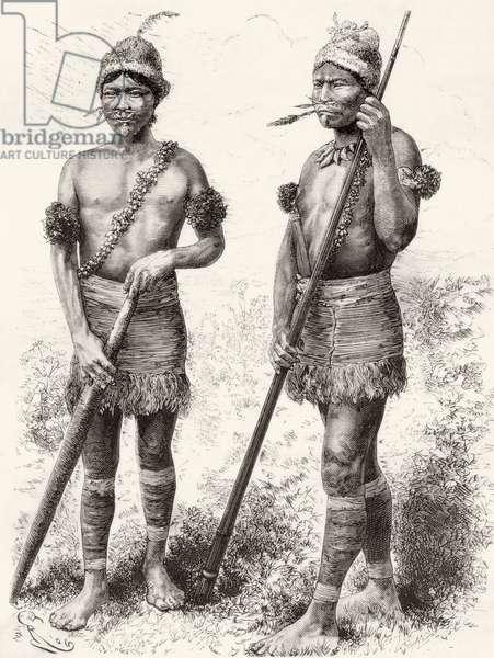 South American Carijona Indians (engraving)