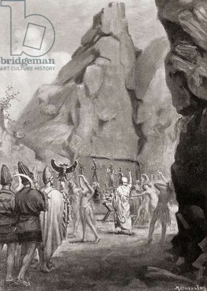 The celebration of a springtime festival with a cult dance to worship the Hittite Mother Goddes,  from Hutchinson's History of the Nations, pub.1915