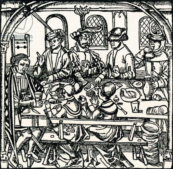 A Tudor Tavern.  From The Streets of London Through the Centuries.