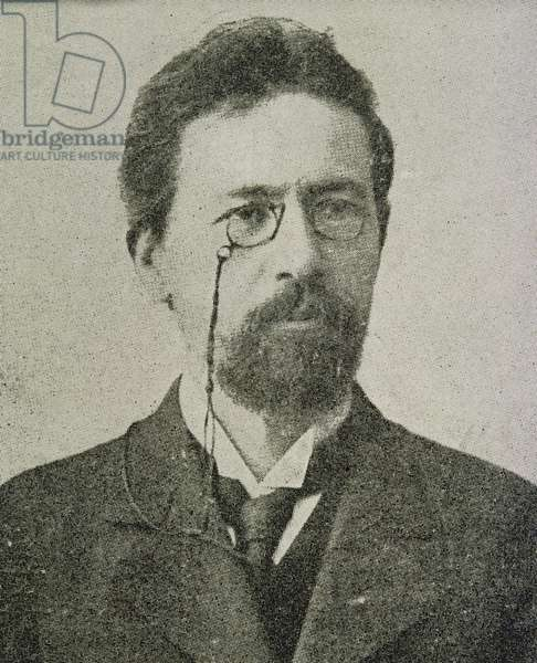 Anton Pavlovich Chekhov (1860-1904) (b/w photo)