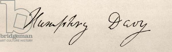 Signature of Sir Humphry Davy (1778-1829) (litho)