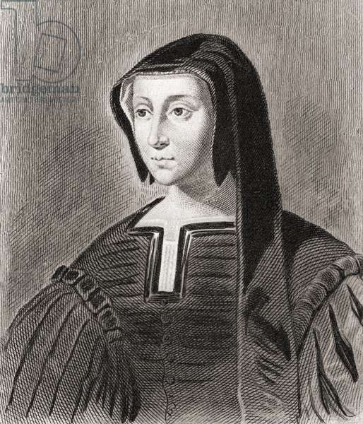 Louise of Savoy, Duchess d' Angouleme (1476-1531) and Regent of France (etching)