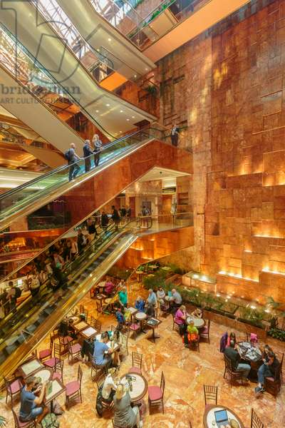 New York, New York State, United States of America.  Interior of Trump Tower on Fifth Avenue.