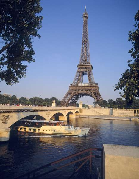 Eiffel Tower and the River Seine (photo)