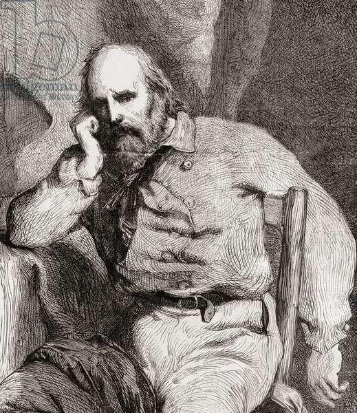 Giuseppe Garibaldi, from 'L'Univers Illustré', 1866 (engraving)