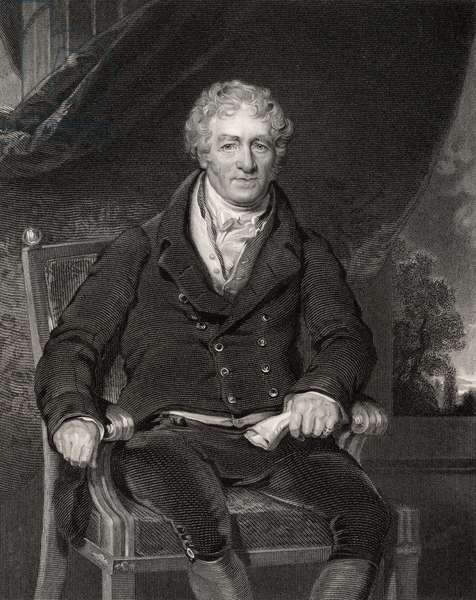 Sir Robert Peel, engraved by H. Robinson, from 'National Portrait Gallery, volume V', published c.1835 (litho)
