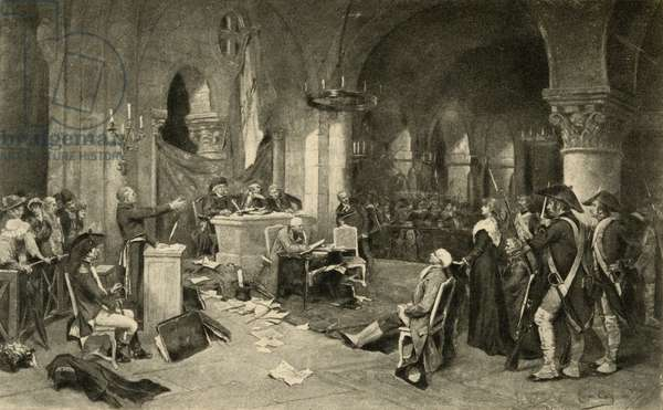The Trial of Marie-Antoinette (1755-93) on 16th October 1793 (litho)