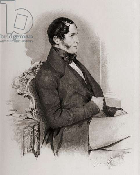 """Leopold Georges Chretien Frederick I, 1790-1865. King of the Belgians (1831-1865) Uncle of Queen Victoria.From a portrait by Diez 1841.From the book """"The Girlhood of Queen Victoria 1832-1840 Vol II"""" published 1912."""