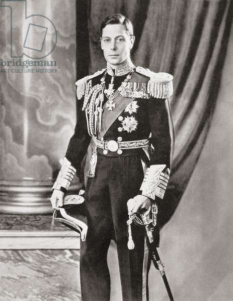 George VI, 1895 – 1952.   King of the United Kingdom.  From The Coronation of their majesties King George VI and Queen Elizabeth, Official Souvenir Programme published 1937