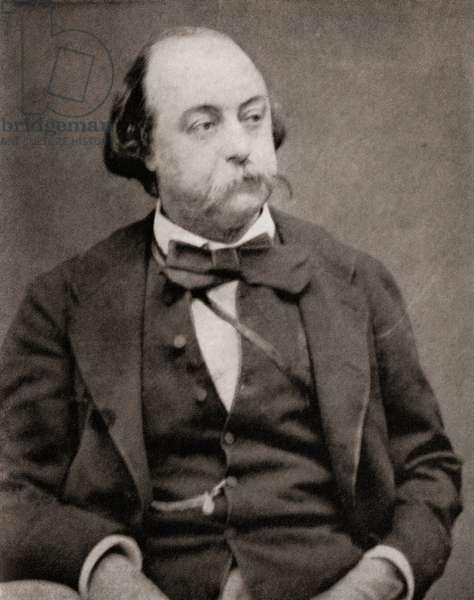Gustave Flaubert (b/w photo)
