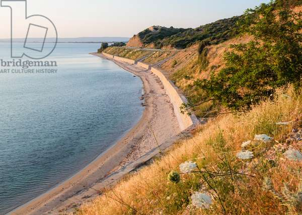 The beach at Anzac Cove, looking north (photo)