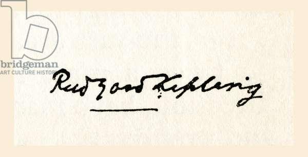 Signature of Rudyard Kipling.  Joseph Rudyard Kipling