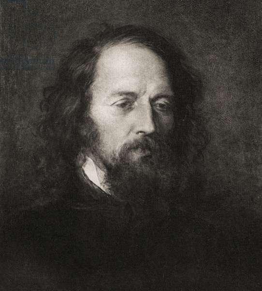 "Lord Alfred Tennyson, from the book ""Tennyson a memoir"" by his son Hallam Lord Tennyson (engraving)"