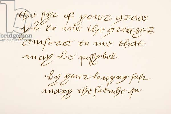 Mary Tudor, 1496 – 1533.  Queen of France.  Hand writing sample and signature.