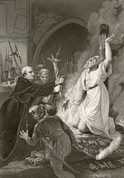 Martyrdom of Archbishop Thomas Cranmer, 21 March 1556, from 'The National and Domestic History of England' by William Hickman Smith Aubrey (1858-1916) published London, c.1890 (litho)