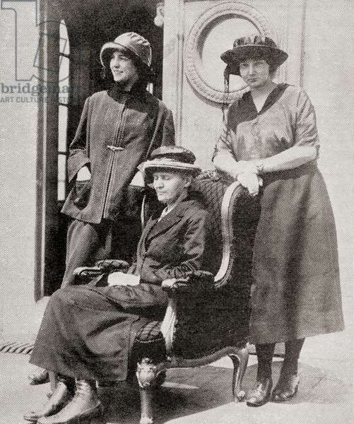 Madame Curie and her daughters