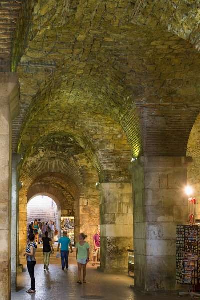 The basement halls of the Palace of Diocletian, Split, Croatia (photo)
