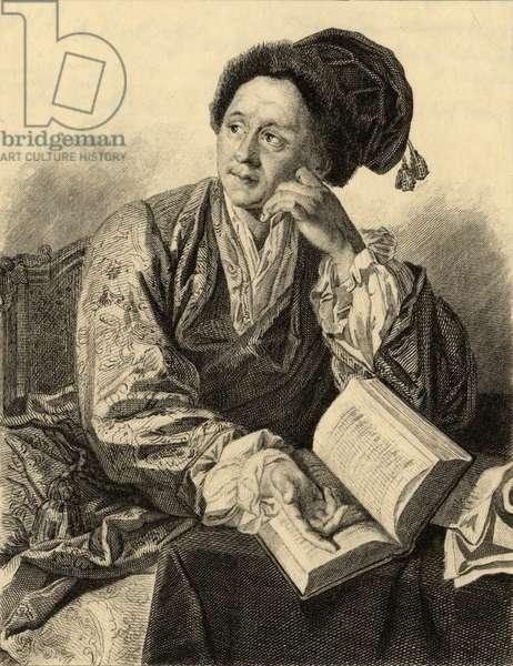 Bernard le Bovier de Fontenelle (1657-1757) (engraving)