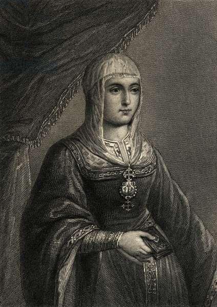 Isabella the Catholic (1451-1504) (litho)