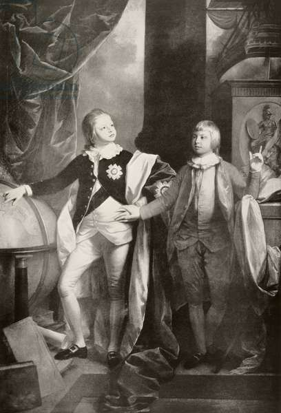 William and Edward (litho)