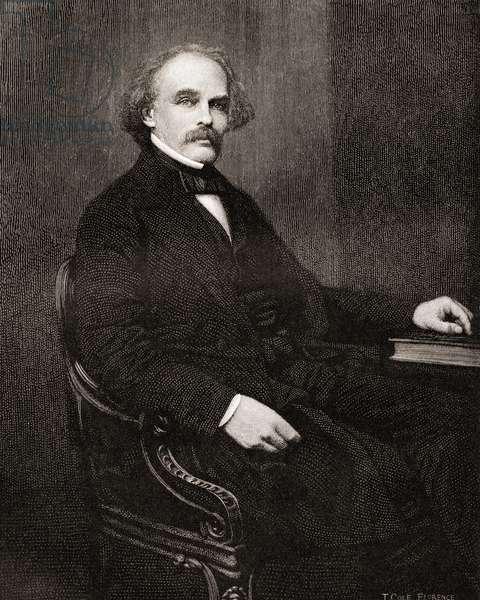 Nathaniel Hawthorne, the Century Magazine, published 1887 (engraving)