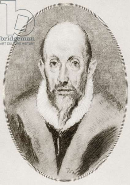 Domenikos Theotokopoulos, El Greco, from Living Biographies of Great Painters.