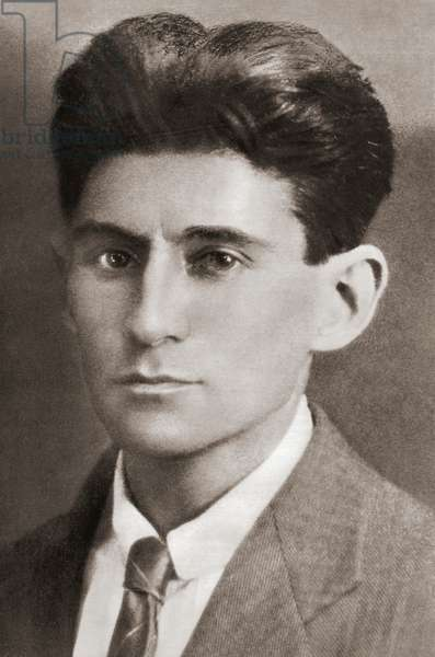 Franz Kafka, after a contemporary print