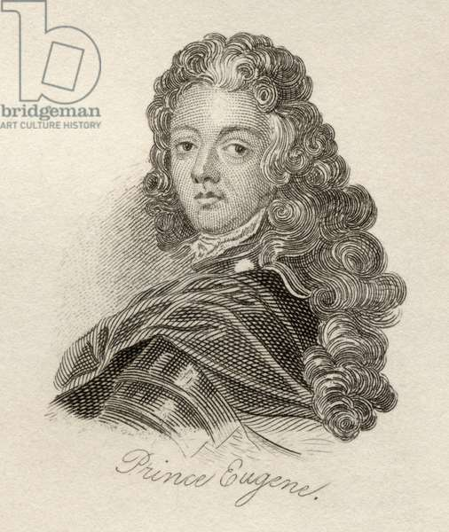Francois-Eugene, Prince of Savoy-Carignan, from 'Crabb's Historical Dictionary', published 1825 (litho)