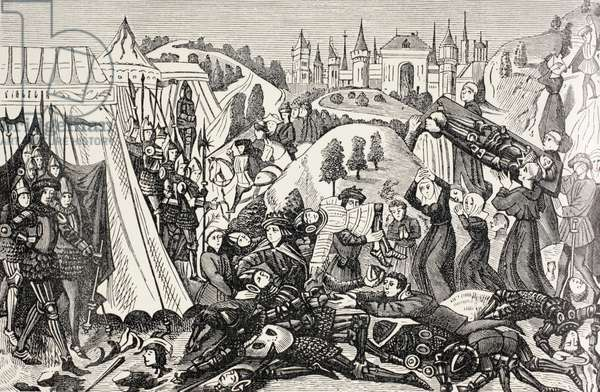 After the Battle of Hastings, c.1880 (litho)