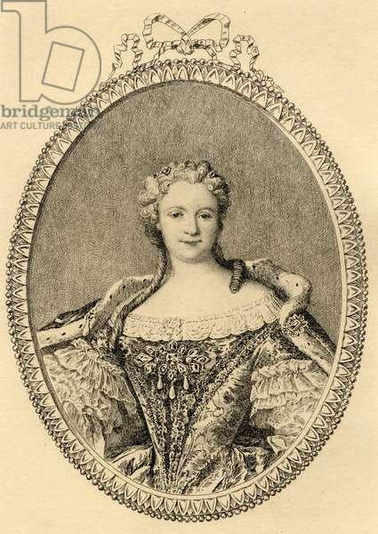 Maria Leszczynska (1703-68) (litho)