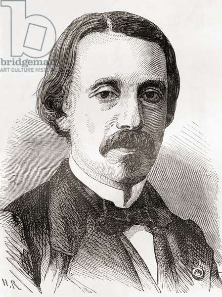 Jean Bernard Léon Foucault, from Les Merveilles de la Science, published c.1870 (engraving)