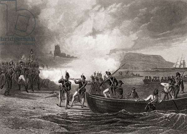 The Landing of the French in Bantry Bay 1796, by H. Warren, engraved by J.Rogers.