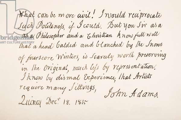 John Adams, 1735 – 1826.