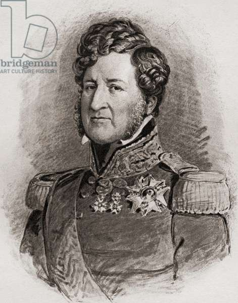 """Louis Philippe, 1773-1850. Duke of Orleans, Duke of Chartres, king of the French (1830-1848)  From a portrait by F. Winterhalter.From the book """"The Girlhood of Queen Victoria 1832-1840 Vol II"""" published 1912."""