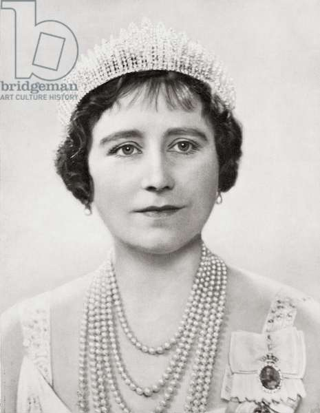 Queen Elizabeth, The Queen Mother. Elizabeth Angela Marguerite Bowes-Lyon, 1900 – 2002.  Queen consort of King George VI.  From The Coronation of their majesties King George VI and Queen Elizabeth, Official Souvenir Programme published 1937