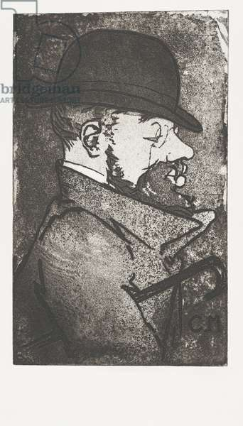 Portrait of Toulouse-Lautrec by French artist Charles Maurin