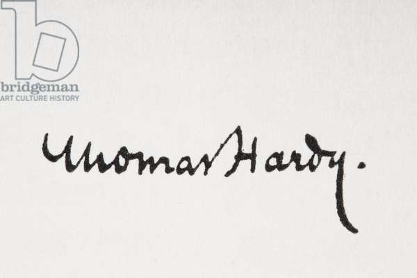 Signature of author Thomas Hardy, from King Albert's Book, published 1915 (litho)