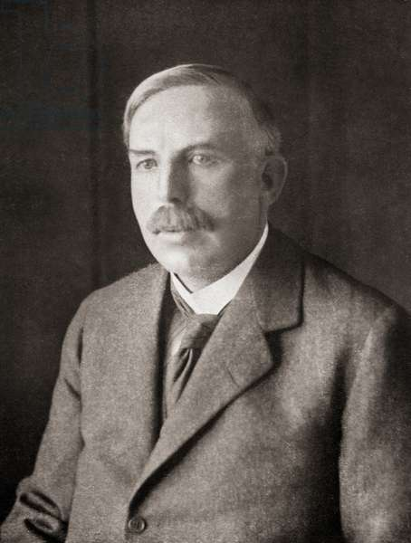 Ernest Rutherford, from Master Minds of Modern Science, published 1930 (b/w photo)