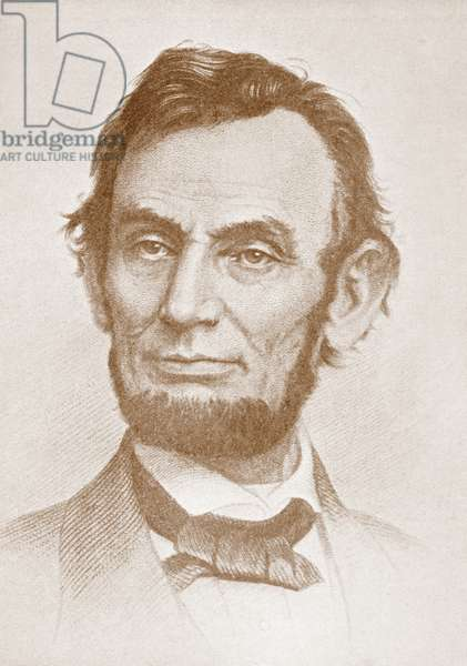 Abraham Lincoln, 1809 – 1865.  16th President of the United States.  From The Wonderful Year 1909